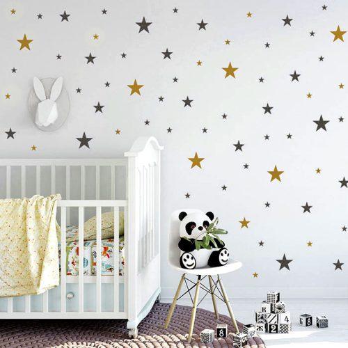 estrelas em vinil para decorar quarto bebe