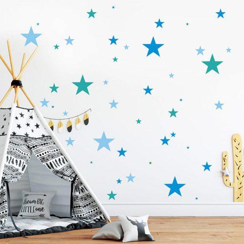 estrelas em vinil autocolante para decorar parede