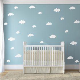 autocolante vinil nuvens para quarto crianca