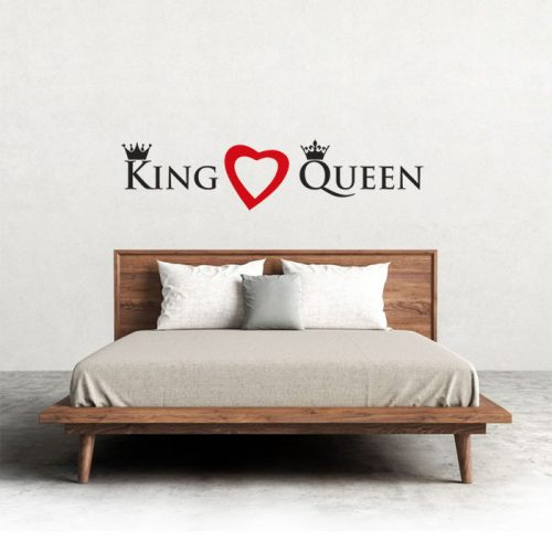 vinil adesivo parede com frase king love queen