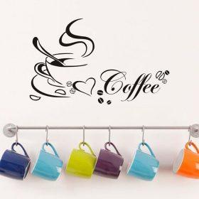 adesivo em vinil com chavena de cafe coffee cup