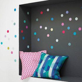 vinil decorativo com bolinhas coloridas