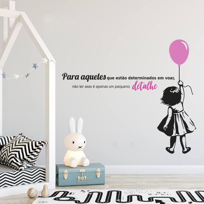 Vinil Adesivo De Parede Com Frase Eou Menina Do Balão
