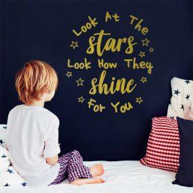 vinil de parede look at the stars