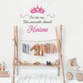 adesivo de parede personalizado princesa