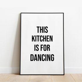 decor de cozinha com frase art print this kitchen